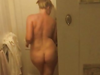 Wife nude before shower hidden camera