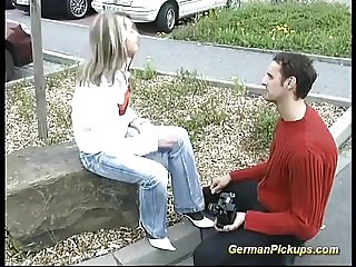 german teen picked up for first anal