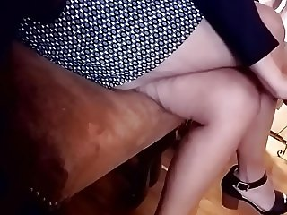 Friend's Mom's Legs - While Friend at Photoshoot