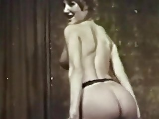 STAY WITH ME - vintage curvy blonde stockings striptease