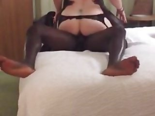 Mature in stockings riding BBC