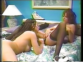 Thick lingerie lesbians with big tits love to go to town on each other with toys