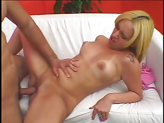 Blond latina with round ass gets rough doggystyle pounding