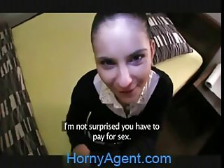 HornyAgent Bootylicious Katka fucks me for cash