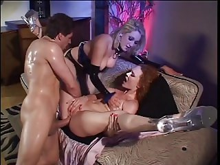 Audrey Hollander in hot threesome action