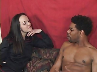 Slut fucks black guy and jizzed on