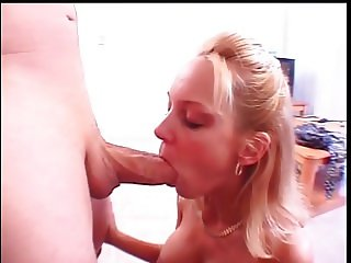 Cock sucking blond whore mouth fucking