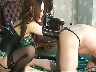 Japanese Femdom Anal Dildo and Anal Fist