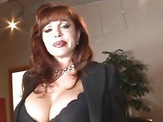 Redhead MILF loves a big hard cock