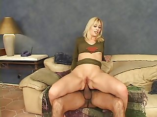 Military chick goes anal