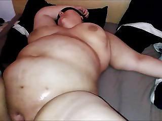 BBW slut Melanie cum on tits