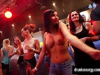 Nasty chicks fucking in club