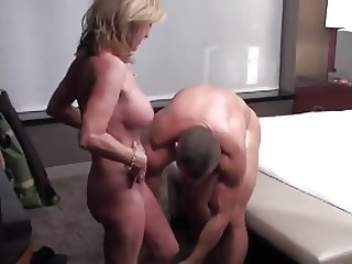 Sexy MILF Cougar fucks young stud