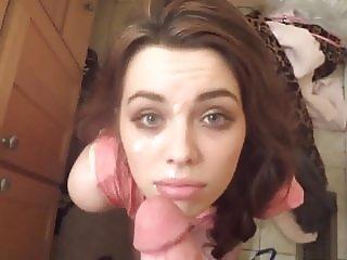 Cum on beautiful face