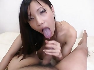 A gorgeous Japanese with a tight Pussy.