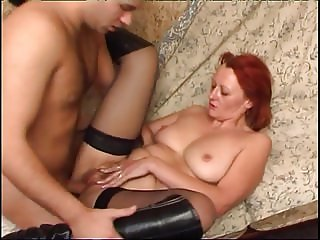 Old & Young - granny fucking in stockings and top-boots