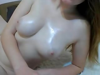 oily milky boobs