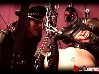 Mistress Krush in full leather part 3