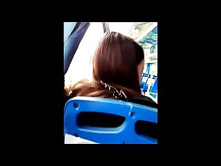 cumshot on girl's hair on bus compilation