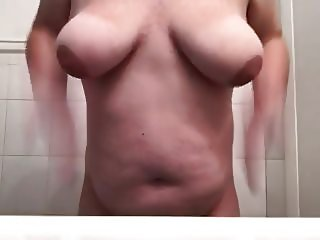 18 year old bbw spanks ass and tits in shower