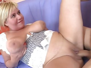 Mature likes young hard cock