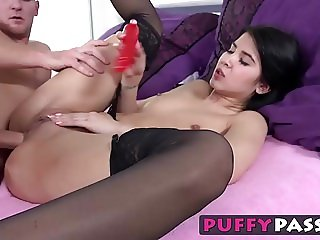 Anal virgin Lady Dee gets her tight little ass fucked hard