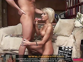 hot euro MILF Katie porn casting