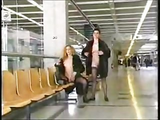 Exhibitionism at airport