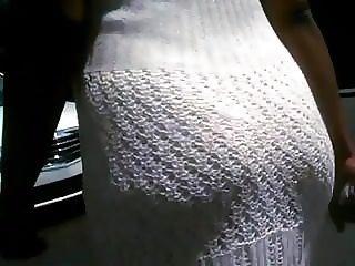 Big Jiggly Ass In Fishnet Dress Walking
