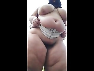 BBW MATURE Modeling ASS -  FAT LEGS