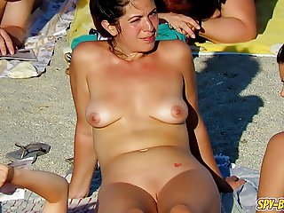 Hot Voyeur Amateur MILFs - Nudist Beach Spy Video