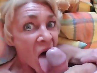wild granny sucking dick