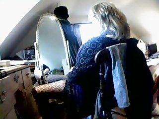 Her favourite wanking spot. Hidden cam
