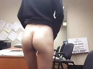 21yr old coed masturbating at work