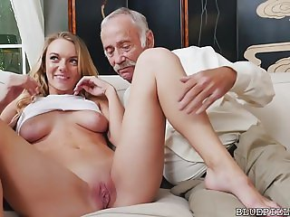 Molly Mae Fucks with Grandpas For Money