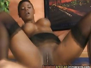 Pounding a gorgeous black immigrant