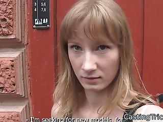 Cocksucking casting amateur banged