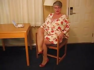 Big Titty Granny In Heels and Pantyhose