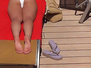 Candid soles on cruise ship