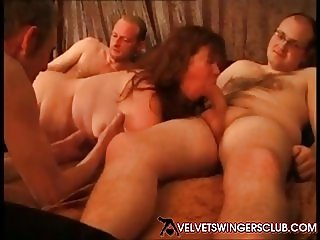 Velvet Swingers Club BBW wife trying new younger stud