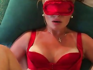 Cuckold blonde wife takes on a strange big cock