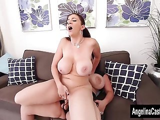 Angelina Castro Strap On Fucks Sara Jay!