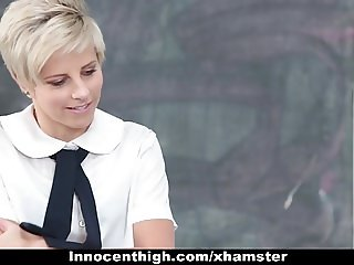 InnocentHigh - Cute Blonde Teen Opens Up For Teacher