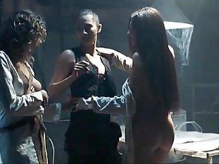 Oksana Borbat Lesbo Threesome In House On Haunted Hill Movie