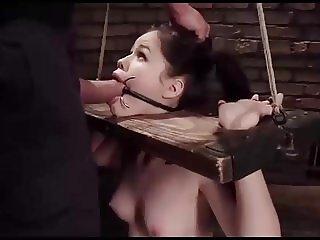 Yhivi - Anal training for bondaged girl
