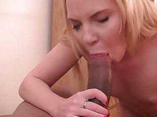 Alessia sucks black dick