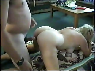 Amateur blonde MILF sucking and fucking