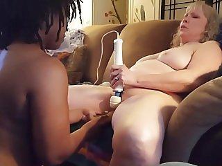 Interacial Lesbian Mature Dildo Orgasum