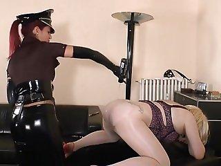 German Mistress - Cop femdom strapon