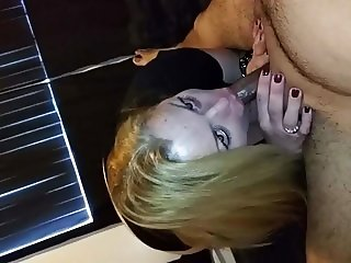 Blonde Mexican loves to suck my cock